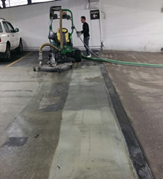 American water blasting services airport runway rubber for Garage floor cleaning service